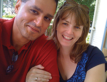 Photo of Kristi Dahlberg Gallegos C'97 G'06 with her husband Raun Gallegos. Link to her story.
